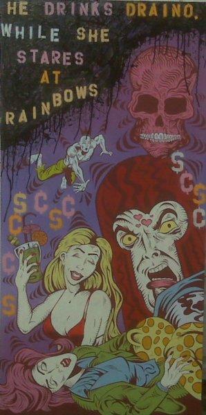 Damon Johnson, He Drinks Drano. While She Stares at Rainbows, 2009
