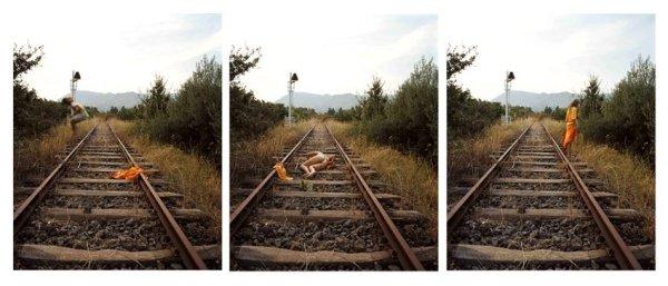 Giada Ripa, Untitled Rail 3, 4, 5 (tryptic), 2005