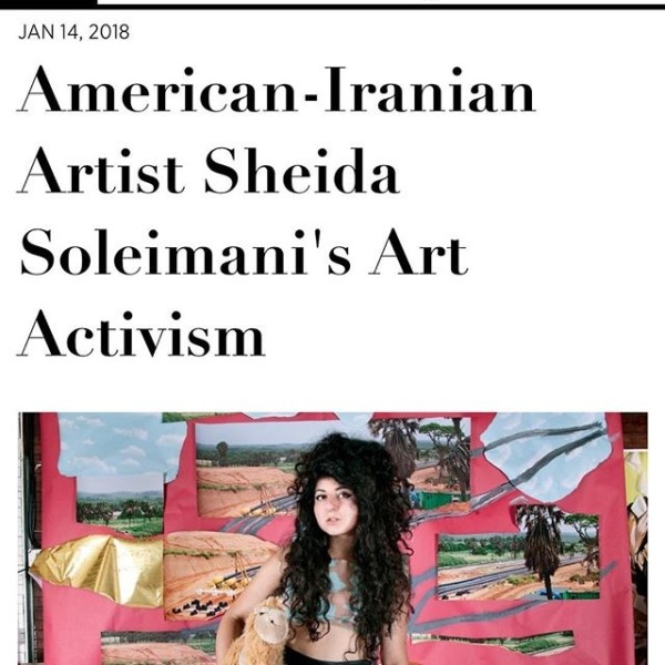Sheida Soleimani in Harper's Bazaar