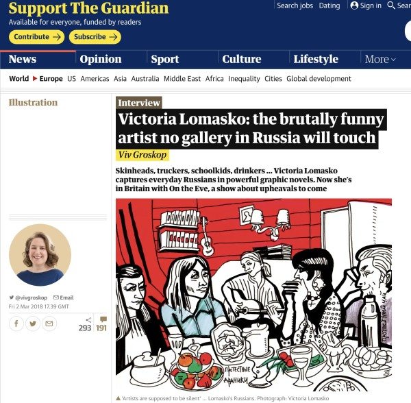 Victoria Lomasko in The Guardian