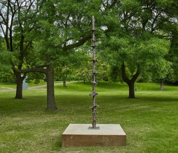 Cord, 2019, earthcast bronze, 287 x 28 x 28 cm / 113 x 11 1/8 x 11 1/8 in.