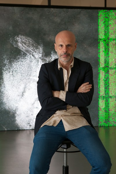 Esther Schipper congratulates Philippe Parreno