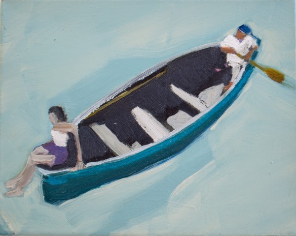 Melora Griffis, opposite ends of the boat, 2013