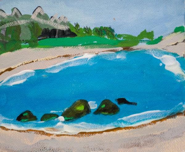 Melora Griffis, Tulum lagoon, 2012