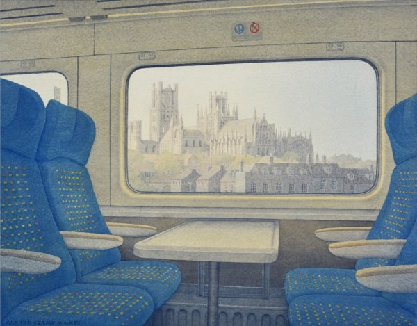 Train Cityscape (long after Ravilious), 2016