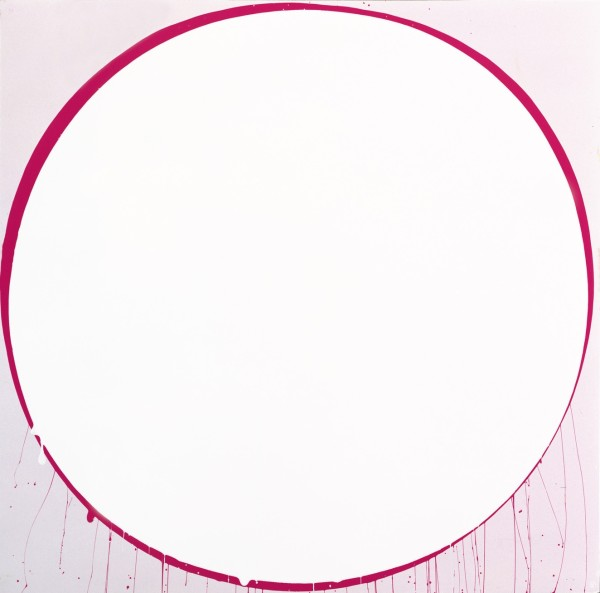 Untitled Circle Painting: Pale Lilac and Magenta, 2002