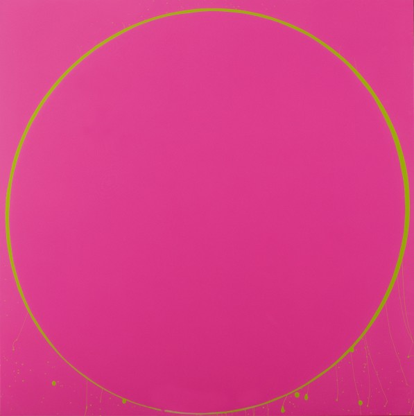 Untitled Circle Painting: Magenta/Green, 2003