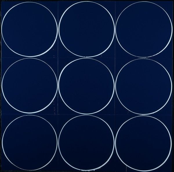 Untitled Circle Painting: Blue/Pale Grey/Blue, 2005