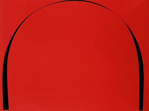 Poured Painting: Dark Red, Black, Dark Red, 1998