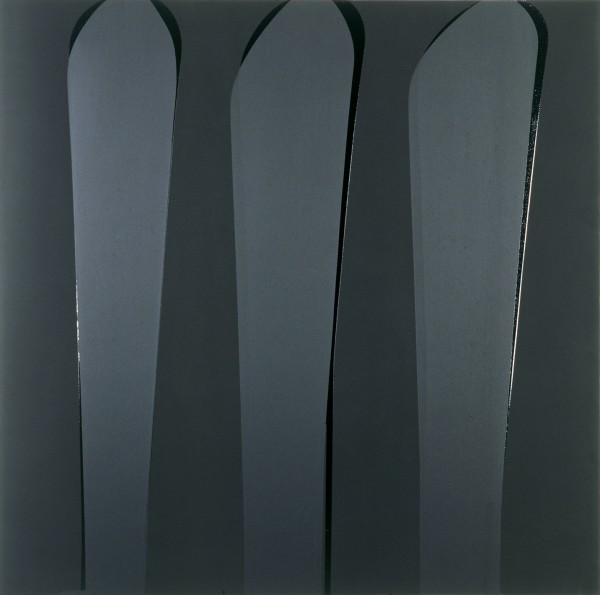 Untitled Matt Black, Gloss Black, Satin Black, 1990