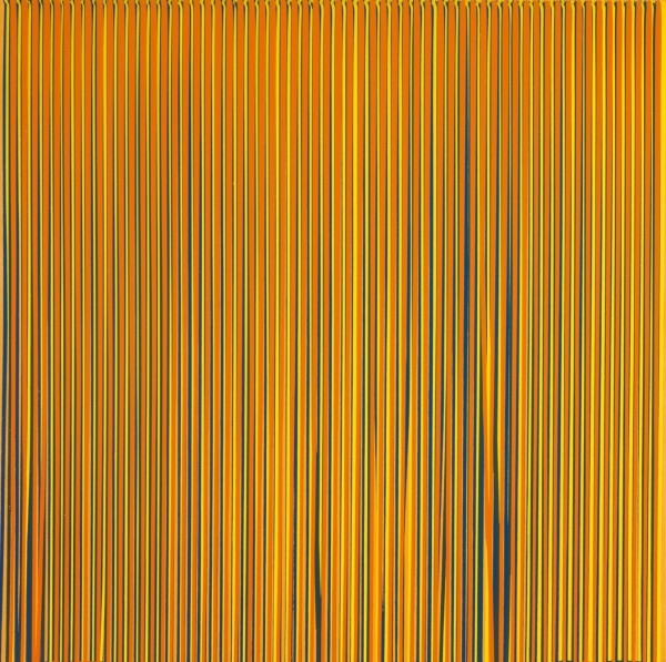 Poured Lines: Light Orange, Blue, Yellow, Dark Green, Orange, 1995