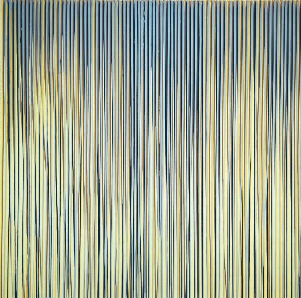 Poured Lines: Cream, Yellow, Beige, Dark Blue, Light Blue, 1993