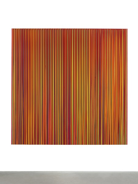 Poured Lines: Light Red, Orange, Yellow, Green, Purple, Yellow, Red, 1995