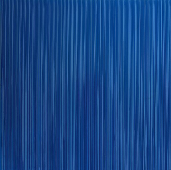 Poured Lines: Blue, 1994