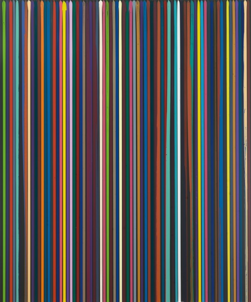 Poured Lines: Black, 2007