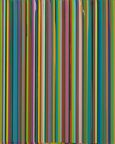 Poured Lines: Green , 2007