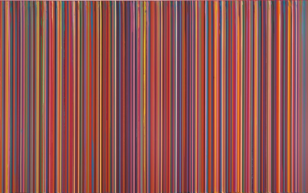 Poured Lines: Dark Red (Echo), 2007