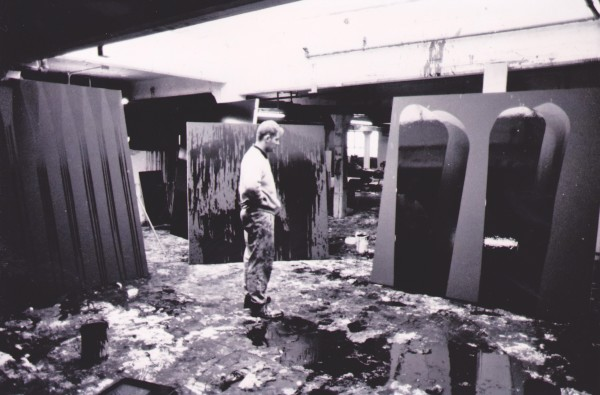Ian working in his South London studio , 1990