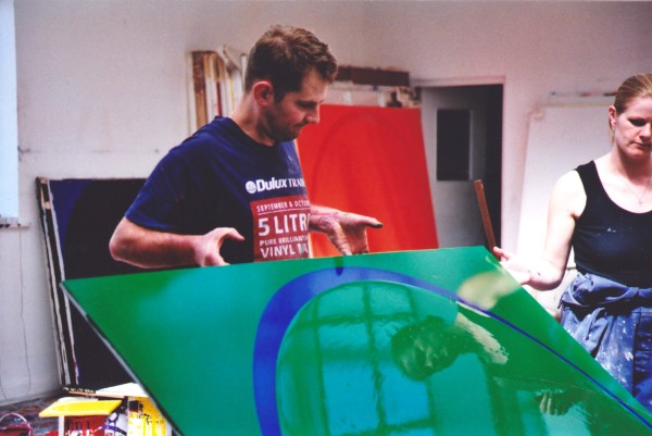 Ian working in his studio, 1996