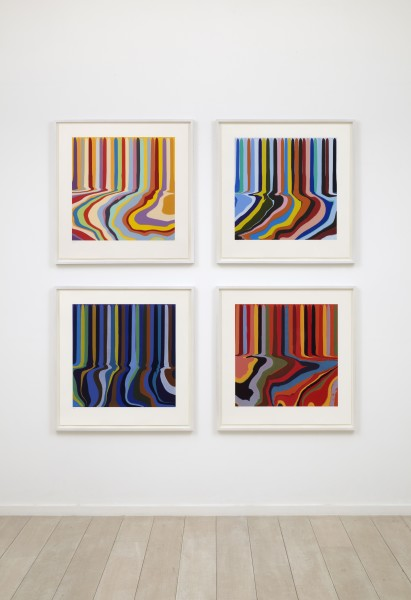 Colourplan series installation, Cristea Roberts Gallery, 2011