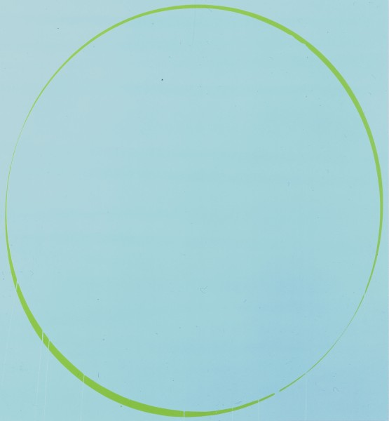 Oval: turquoise, green, turquoise , 2002