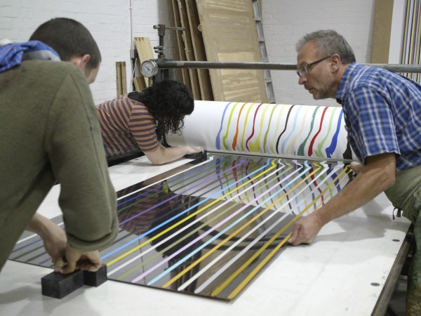 working in the print studio, 2011