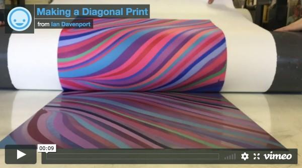 Making a Diagonal Print, 2019