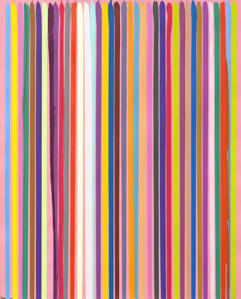 Poured Lines: Studio Pink No.1 , 2006