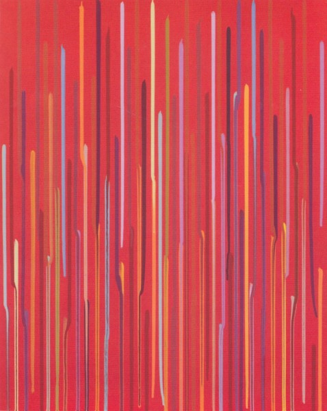 Staggered Lines - Red, 2011