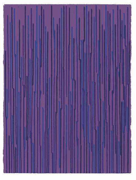 Staggered Lines - Violet, 2010