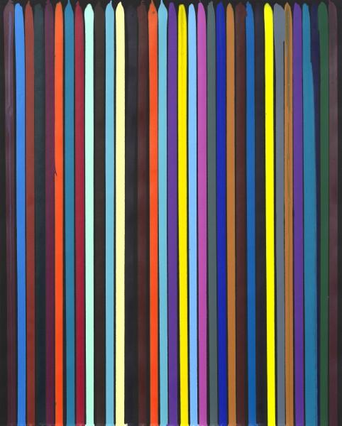Poured Lines: Studio Black, No. 1, 2011