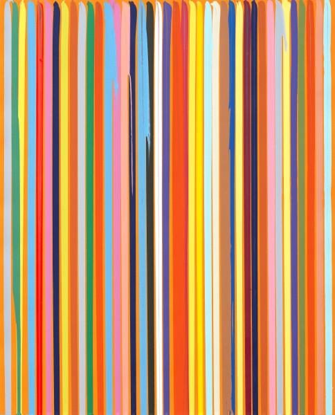 Poured Lines: Orange, 2005