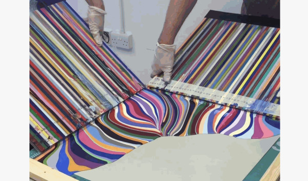 Making a Diagonal Painting, Ian Davenport Studio