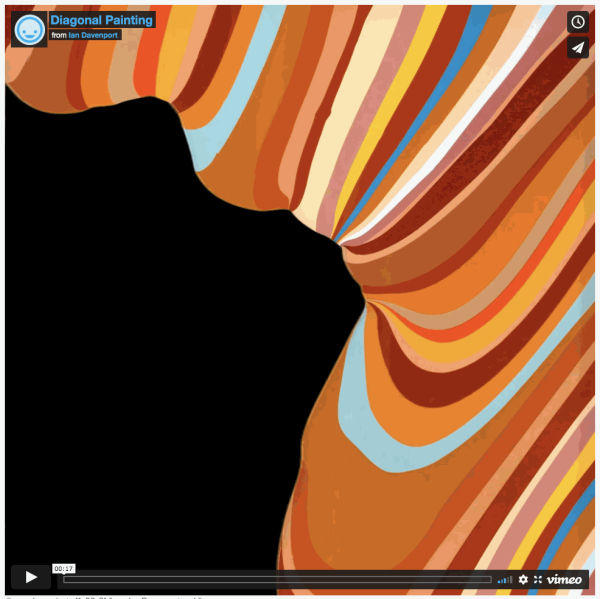 Diagonal Painting, filmed by Mark James