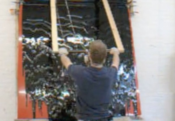 Making a 'Tip Painting' in the Studio, Ian Davenport Studio