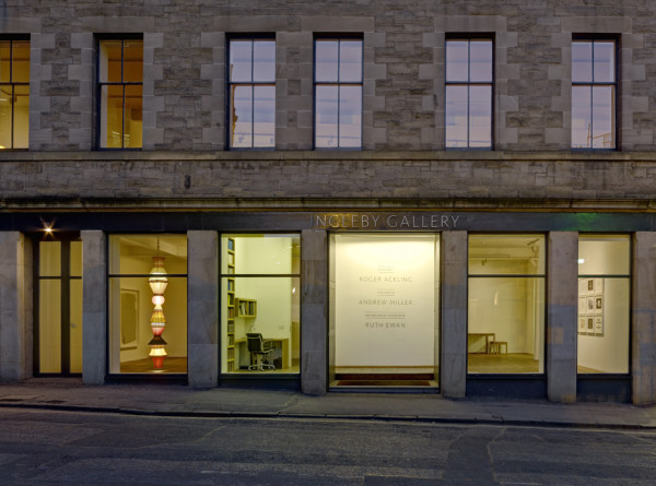 View from exterior of Ingleby Gallery