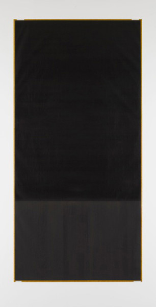 Callum Innes Untitled 2011 oil on paper 216 x 110 cm (framed)