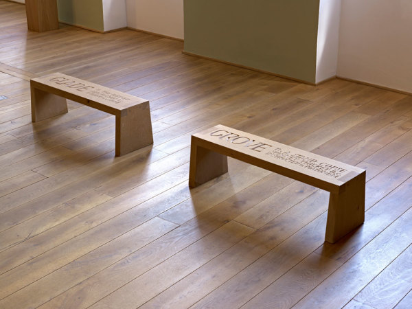 Glade / Grove 1998 Two wooden benches, with Peter Coates 28 x 90 x 28 cm each
