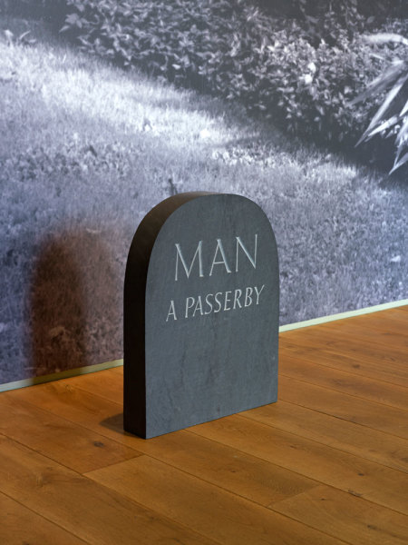 Milestone: Man, A Passerby 1991 slate, with Keith Bailey 48.4 x 38.2 x 7.4 cm