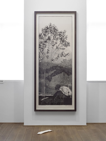 Wünsche (Yearnings), After Max Klinger 2013 two-colour screenprint and Carrara marble, with Peter Coates 222 x 93 cm (framed print)