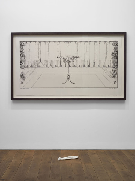 Ruhe (Repose), After Max Klinger 2013 two-colour screenprint and Carrara marble, with Peter Coates 115 x 198 cm (framed print)