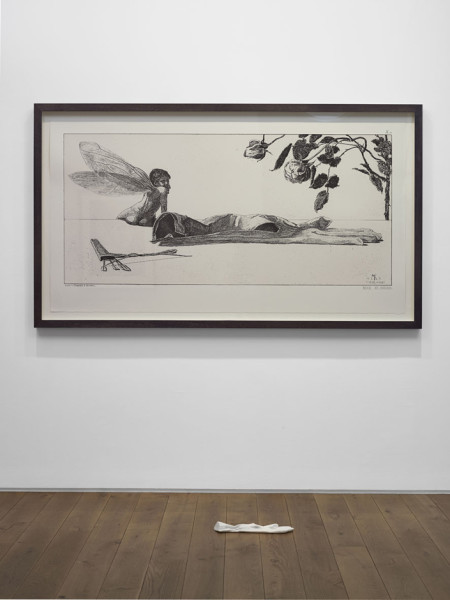 Amor (Cupid), After Max Klinger 2013 two-colour screenprint and Carrara marble, with Peter Coates 115 x 199 cm (framed print)