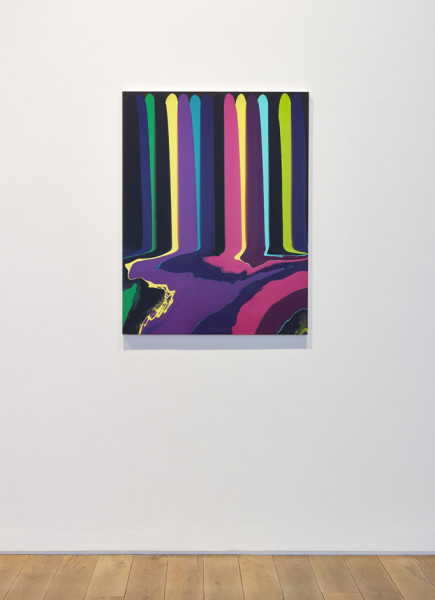 Ian Davenport Puddle Painting: Black Bruce, 2011 acrylic paint on aluminium, mounted on aluminium panel 103 x 79 cm