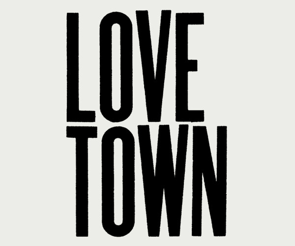 Love Town 10 x 13.5ft billboard installation