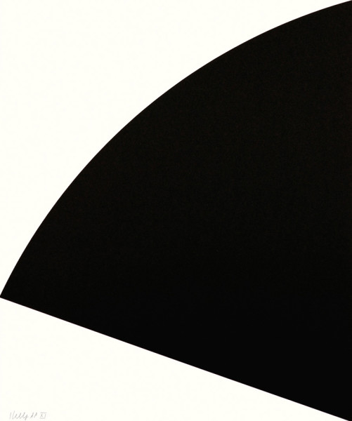 Black Curve 1993, lithograph on paper edition of 34, this edition 33/34 62.8 x 54.1 cm (framed size) Provenance: from the collection of Ellsworth Kelly