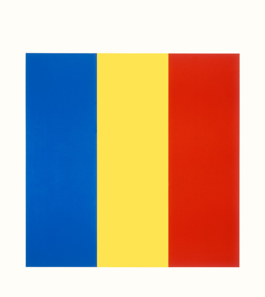 Blue Yellow Red 1990, lithograph on Rives BFK paper edition of 80, this edition AP XI 101 x 98.3 cm (framed size) Provenance: from the collection of Ellsworth Kelly