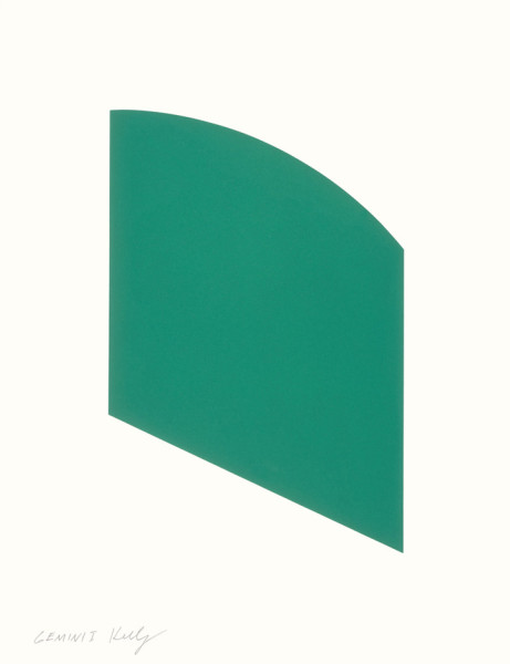 Green Curve 2002, lithograph on Rives BFK paper edition of 100, this edition 54/100 57.7 x 46.4 cm (framed size) Provenance: from the collection of Ellsworth Kelly