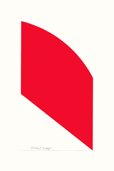 Red Curve 2006, lithograph on Rives BFK paper edition of 100, this edition 71/100 41.8 x 28.4 cm (framed size) Provenance: from the collection of Ellsworth Kelly