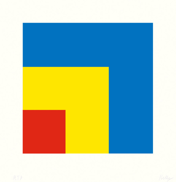 Red Yellow Blue 1999, lithograph on Rives BFK paper edition of 128, this edition AP XI 30.5 x 30.5 cm (framed size) Provenance: from the collection of Ellsworth Kelly