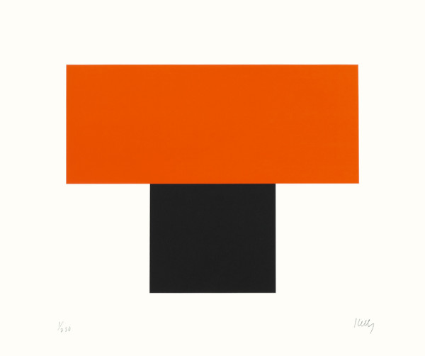 Red-Orange over Black 1970, screenprint on Special Arjomari paper edition of 250, this edition 173/250 69.6 x 82.4 cm (framed size) Provenance: from the collection of Ellsworth Kelly